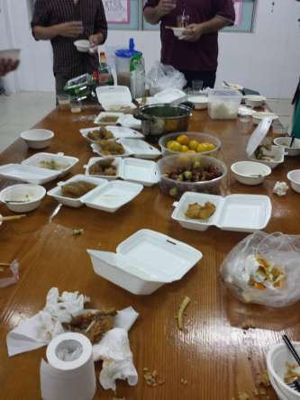 Tuesday nights free food from new international teachers and the Chinese staff