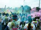 "Awesome photo taken by Carol at the ""Colour Party"" at the finish"