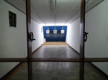 Shooting range in the basement of the palace