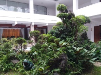 An open courtyard in the palce
